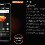 ZTE Warp Sequent Could Arrive Next Week