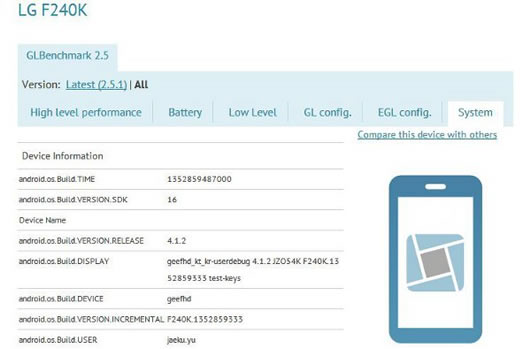 LG F240K Details