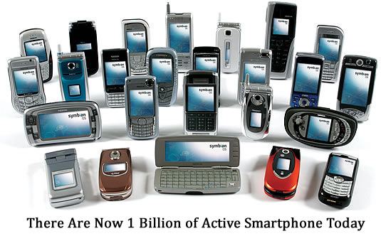 One Billion Active Smartphones