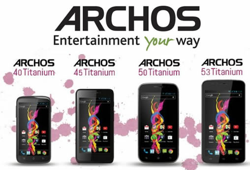 Archos Introduces Four New Titanium Smartphone Models